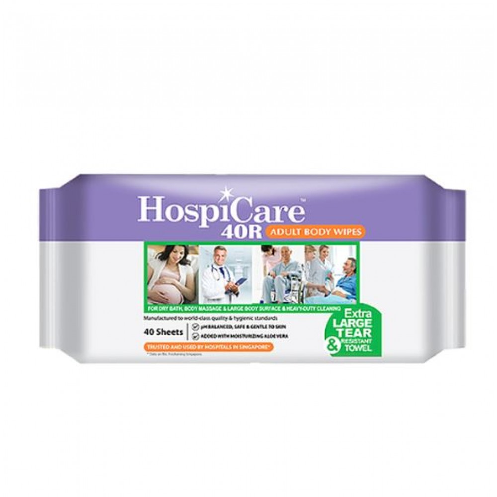 HospiCare 40R Adult Body Wet Wipes