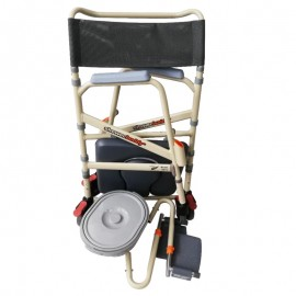 ShowerBuddy Foldable Mobile Shower Commode Chair