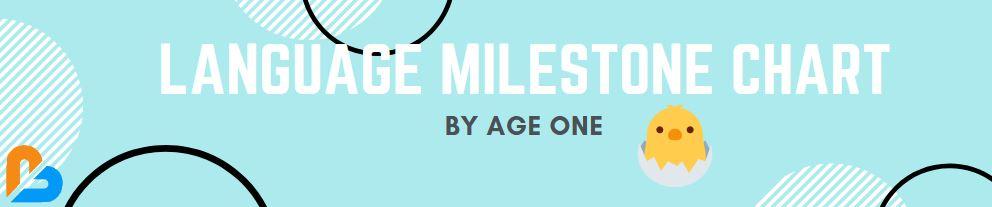 Language Milestone Chart (1/8) - By Age One